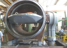 Large Butterfly Valve in our Shop during Functional Testing