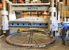 Machining Large Ring on Betts